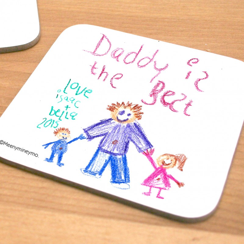 Personalised Child's Own Artwork Coaster