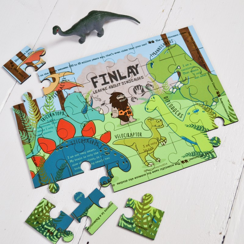 Personalised Dinosaur Wooden Jigsaw Puzzle 1