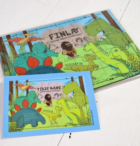 Personalised Dinosaur Wooden Jigsaw Puzzle 3