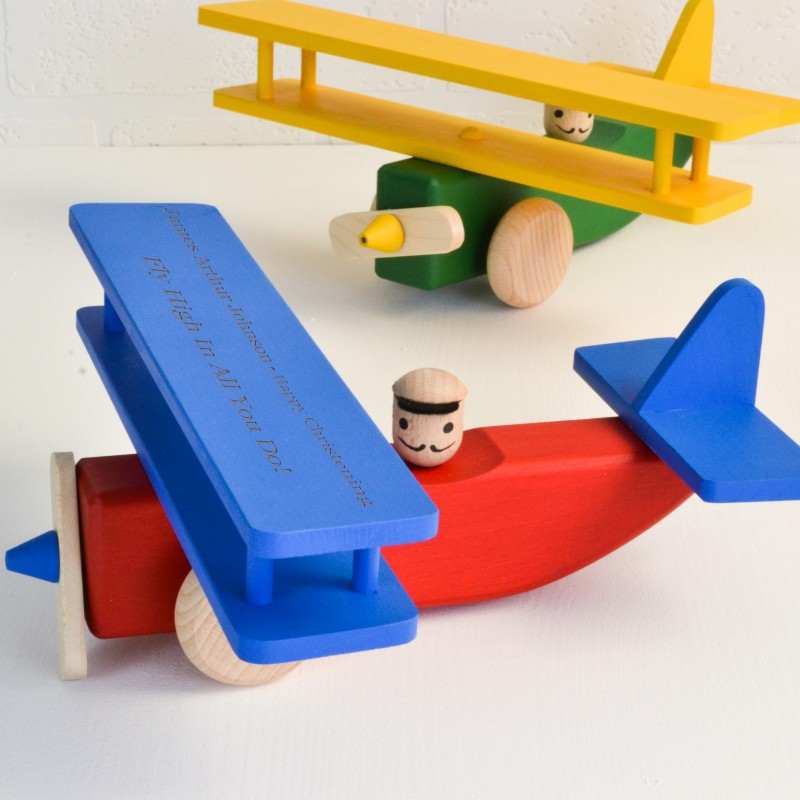 Personalised Wooden Plane