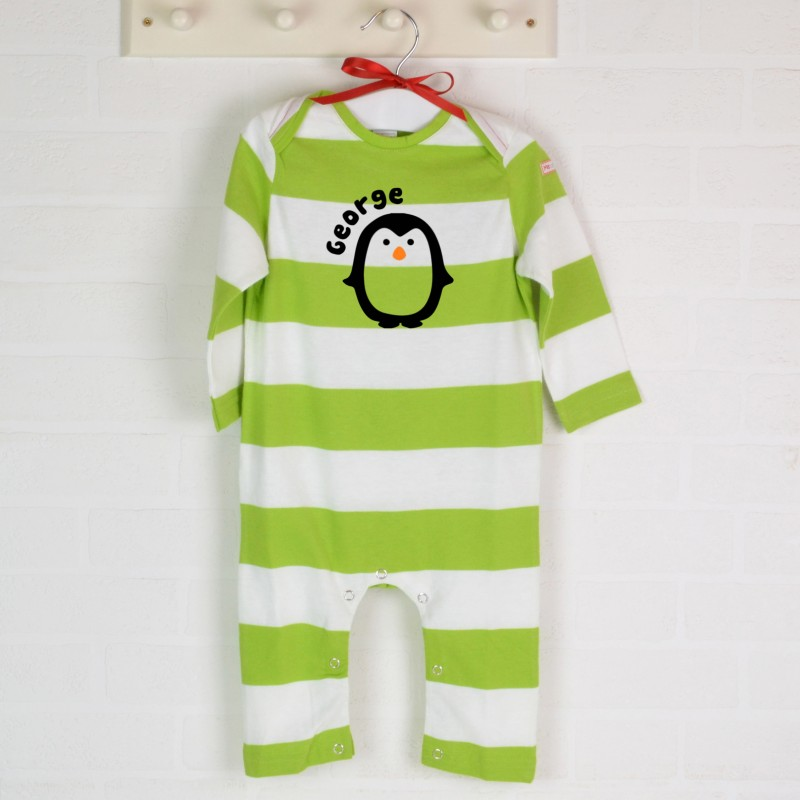 Personalised Penguin Romper