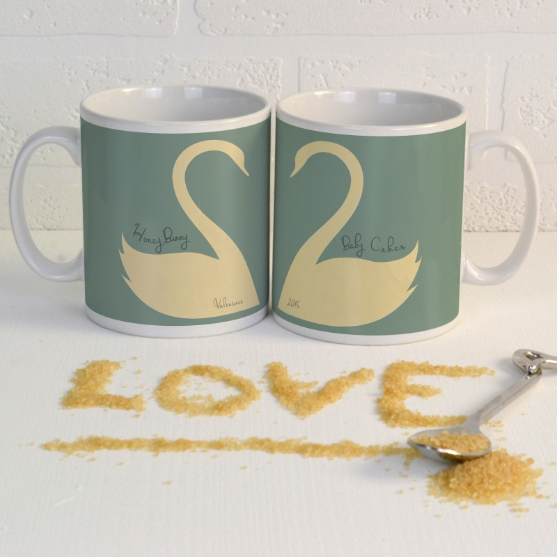 Personalised Swan Mug Pair