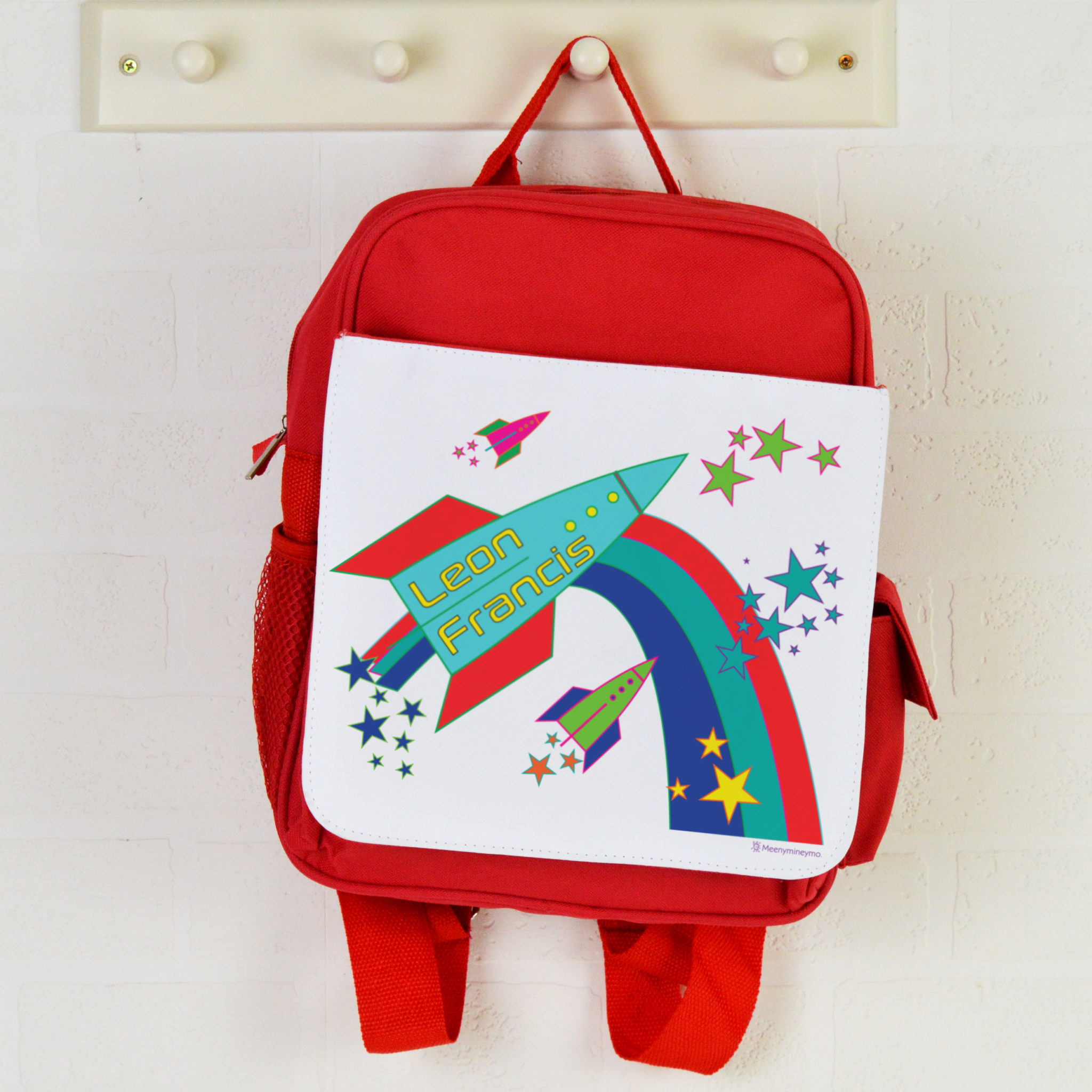personalised backpack rockets