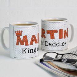 Personalised King of Daddies Mug