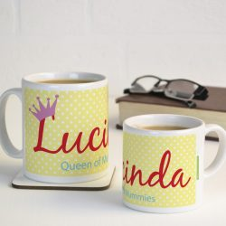 Personalised Queen of Mummies Mug