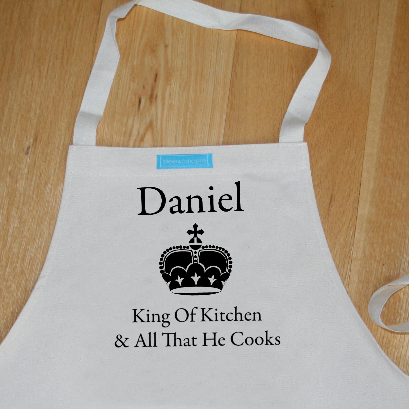 Personalised Apron \'King Of Kitchen\' - Meenymineymo