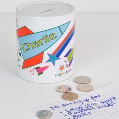 Personalised Rocket Money Box