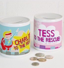 Personalised Superhero Money box