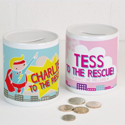 Personalised Superhero Money box