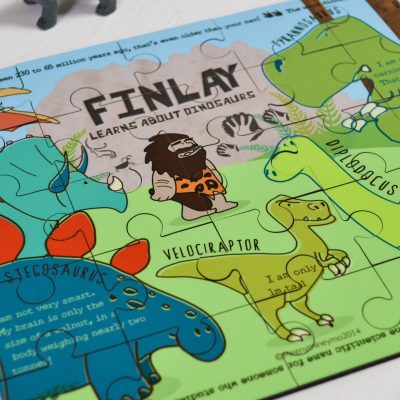 Personalised Dinosaur Wooden Jigsaw Puzzle 2