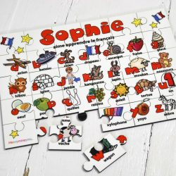 Personalised French Wooden Jigsaw Puzzle 1