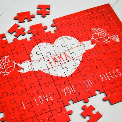 Personalised Love you to Pieces Wooden Jigsaw Puzzle 1