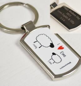 Personalised Sheep Keyring 1 (daddy)