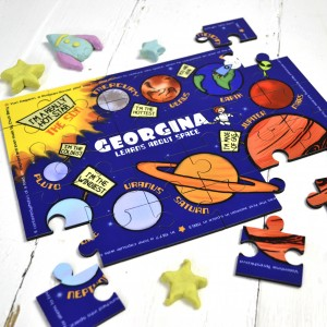 Personalised Space Wooden Jigsaw Puzzle 1