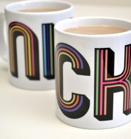 Personalised Stripes Mug