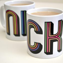 Personalised Stripes Mug