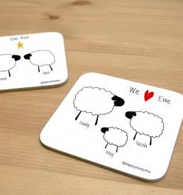 Personalised Sheep Coaster 1