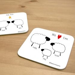 Personalised Sheep Coaster 1