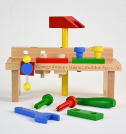 personalised traditional wooden toy