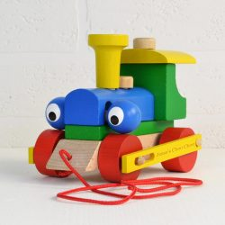 Personalised baby gifts from meenymineymo personalised wooden train take apart and pull along toy negle Gallery
