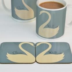 Personalised Swan Coasters