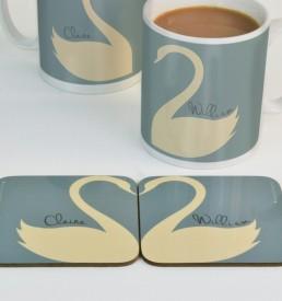 Personalised Swan Coasters