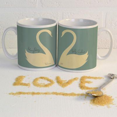 Personalised Swan Mug Pair