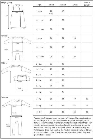 Meenymineymo Size Chart