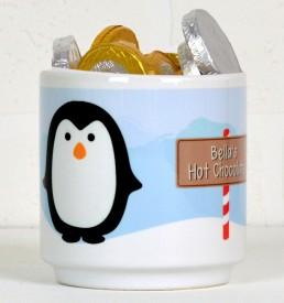 Personalised penguin mug