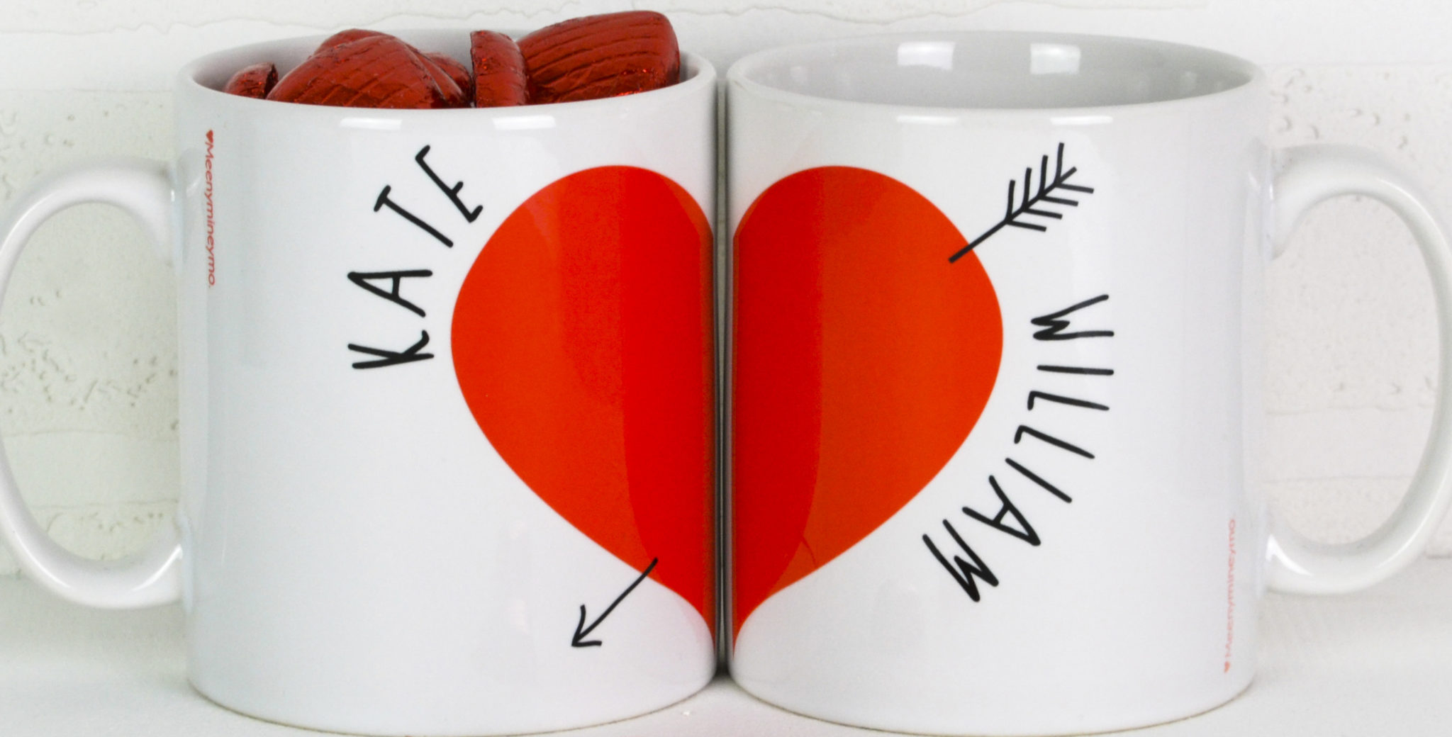 Personalised Love Heart Mugs