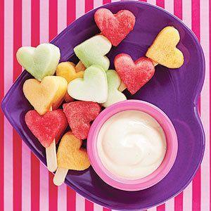 Valentines Melon Lollipops