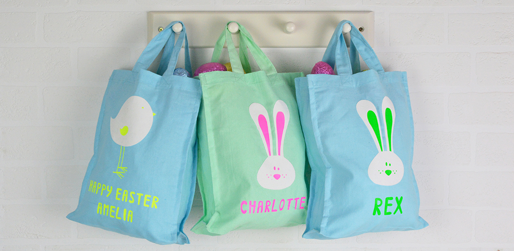 Personalised Easter Egg hunt bags