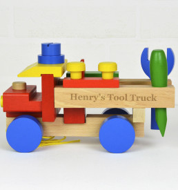 Personalised Wooden Pull Along Toy