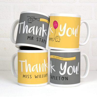 Personalised thank you gift mug