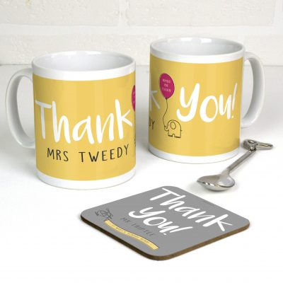 Personalised thank you gift mug