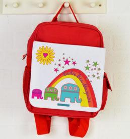 personalised backpack